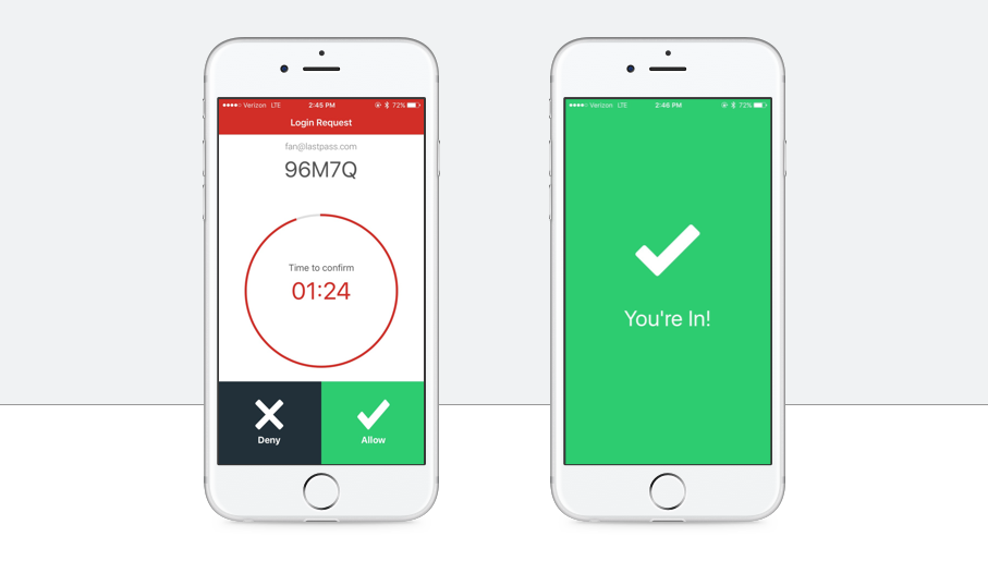 LastPass two factor authentication.